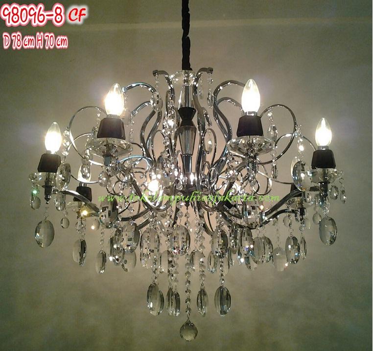 Lampu Hias Gantung Kristal 98096 8cf Harga Lampu Hias
