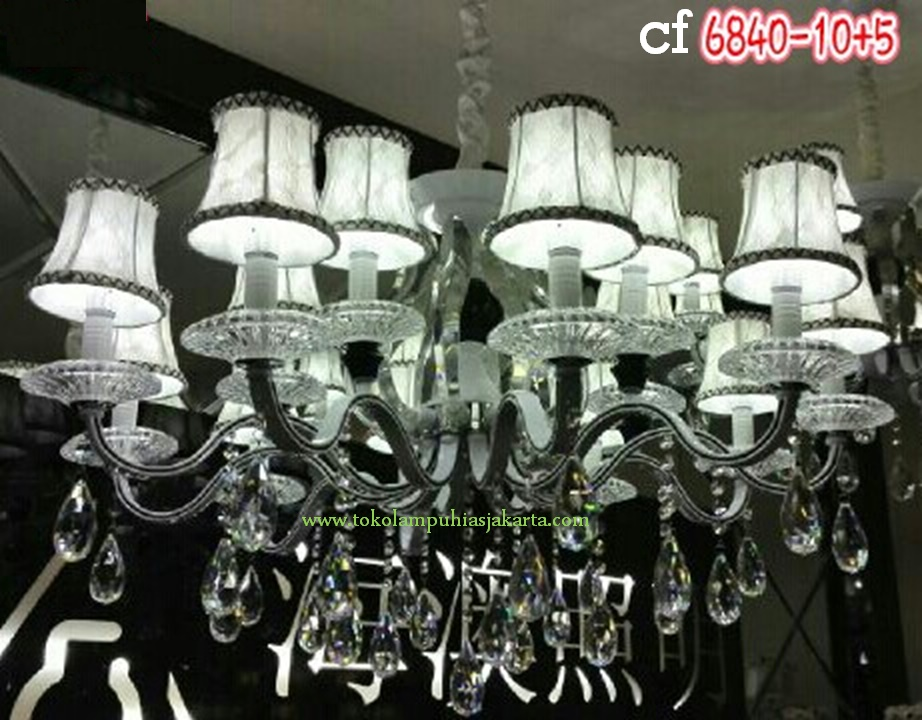 Lampu gantung Kristal 6840-10+5 CF