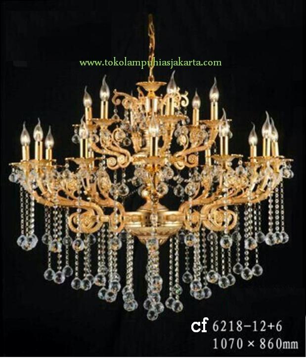 Lampu Kristal 6218-12+6 CF