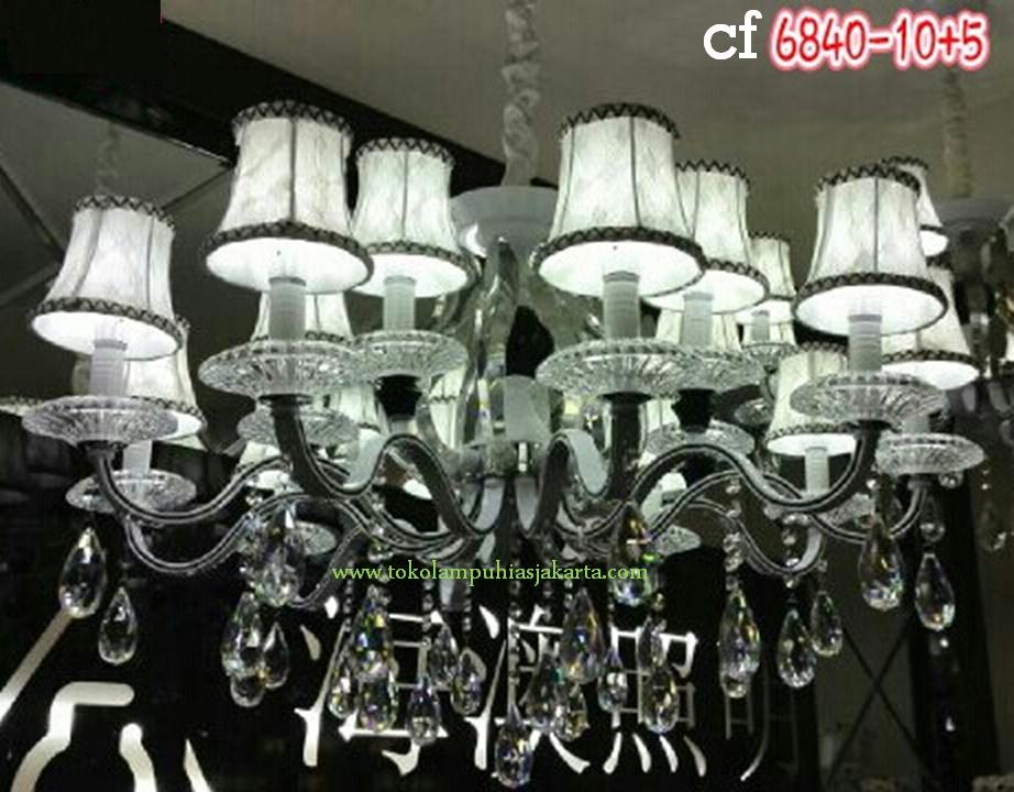Lampu Kristal 6840-10+5 CF