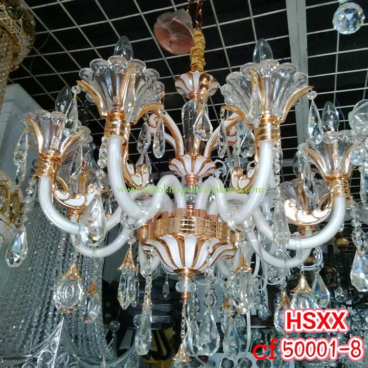 Lampu Kristal Gantung 50001-8-CF