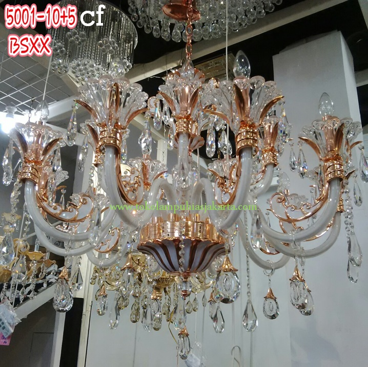 Lampu Kristal Gantung 5001-10-5-Cf