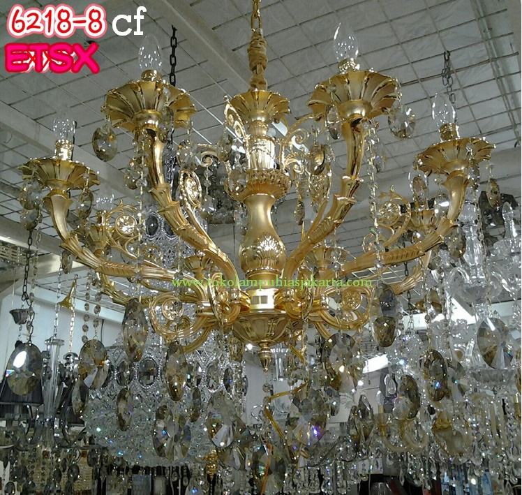 Lampu Kristal Gantung 6218-8-CF