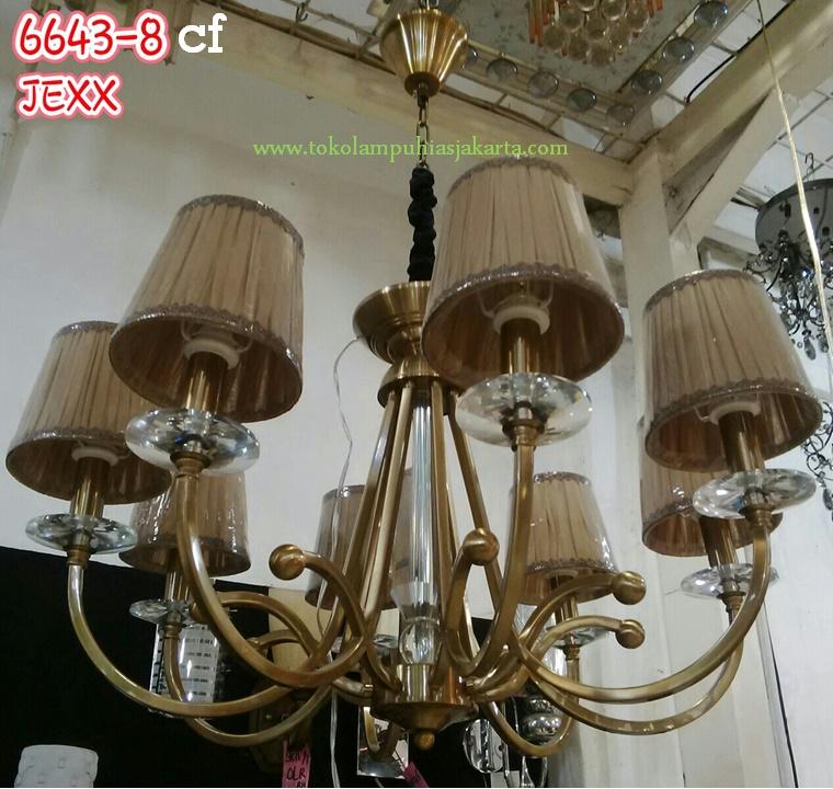 Lampu Kristal Gantung 6643-8-CF-Kap
