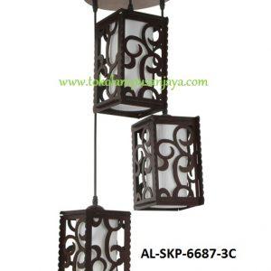 Lampu Gantung Minimalis 3 Lampu AL SKP 6687-3C