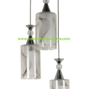 Lampu Gantung Minimalis Sudut 3 Lampu AL SKP 6815-3