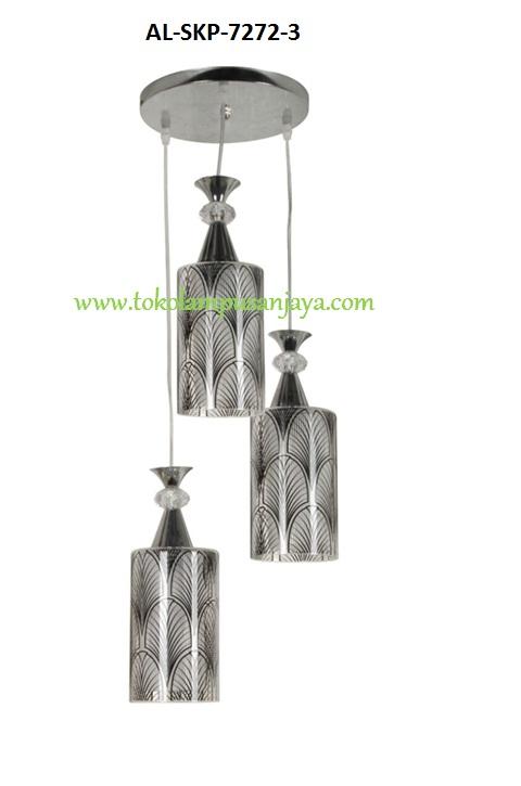 Lampu Gantung Minimalis Sudut 3 Lampu Al Skp 7272 3 Harga