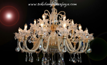 Lampu Gantung Crystal SJL MD9630-12+6L.110cmH110 AS.LL