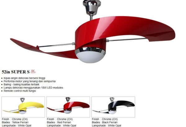 Lampu Kipas MT EDMA 52in Super S Ceiling Fan