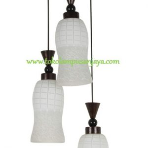 Lampu Gantung Minimalis Sudut 3 Lampu AL SKP 7109-3