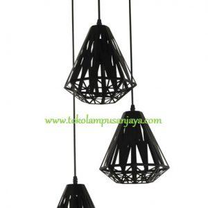 Lampu Gantung Minimalis Sudut 3 Lampu AL SKP 7211-3