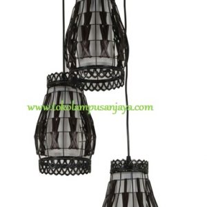 Lampu Gantung Minimalis Sudut 3 Lampu AL SKP 7345-3